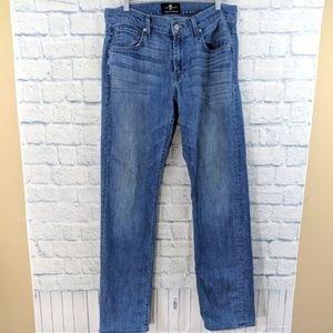 7FAM Carsen Straight Leg Jeans - Size 33